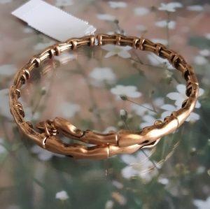 NWT! Alex & Ani Wave Goldtone Bangle Bracelet